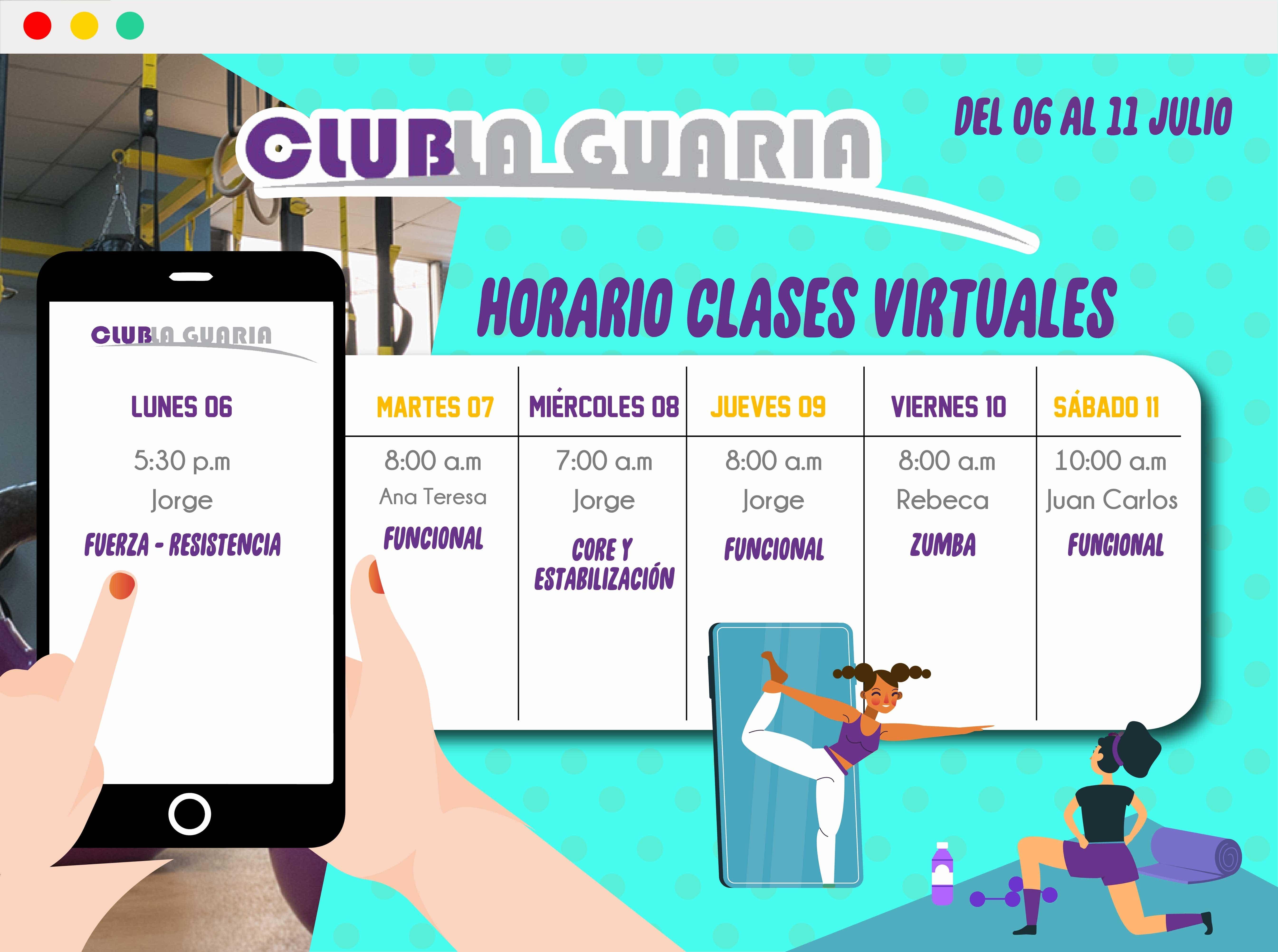 Clases Virtuales del 06 al 11 de julio 2020