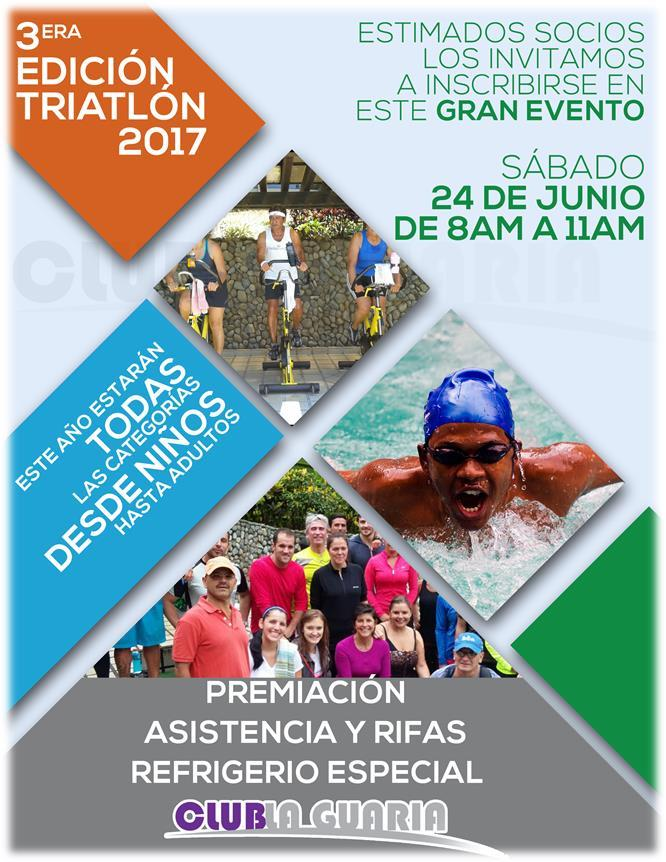 TERCERA EDICIÓN TRIATLON CLUB LA GUARIA  2017