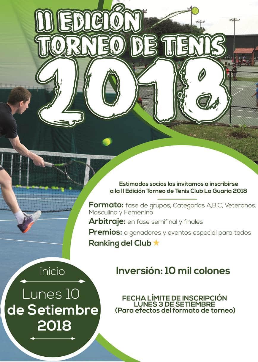 II Edición Torneo de Tenis 2018