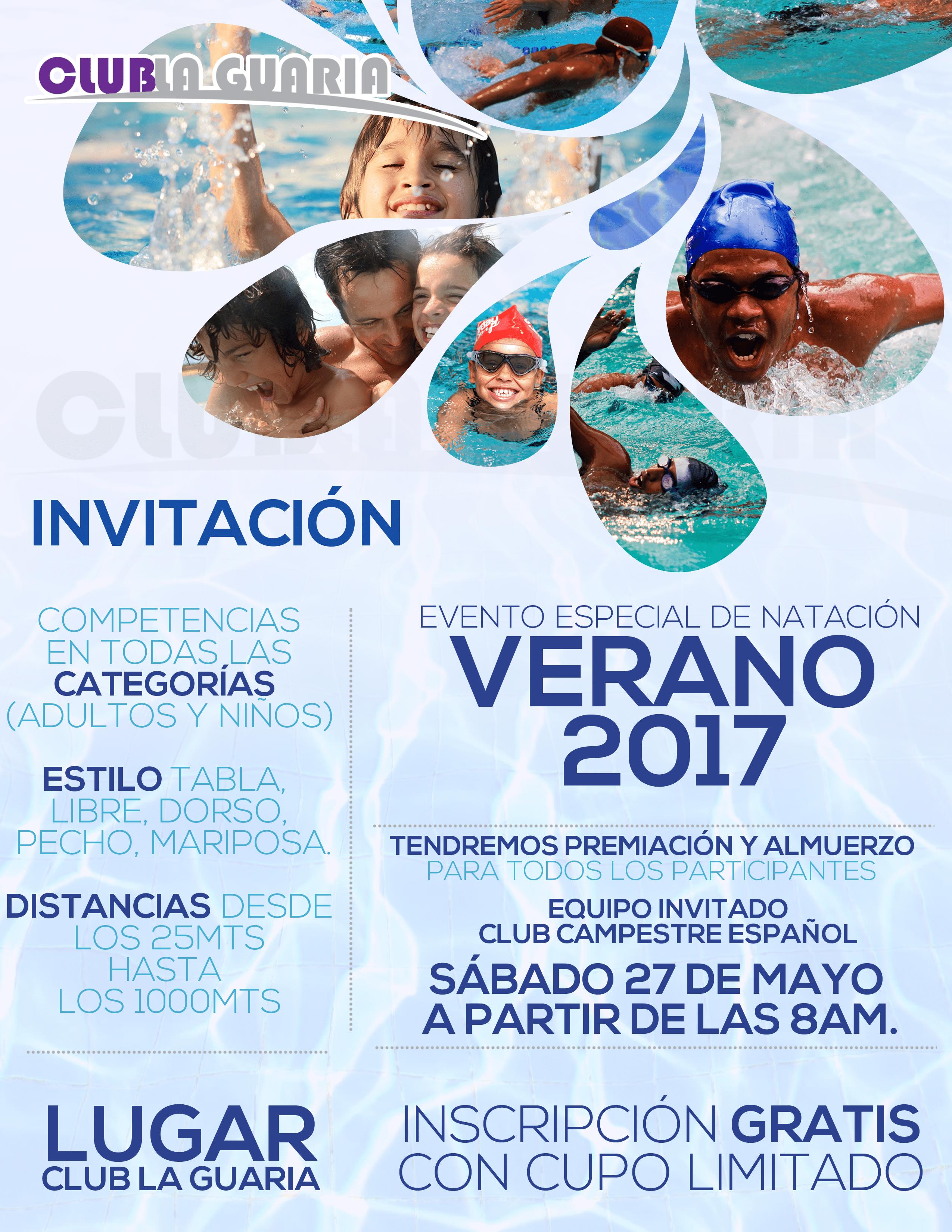 Evento especial de Natación 2017