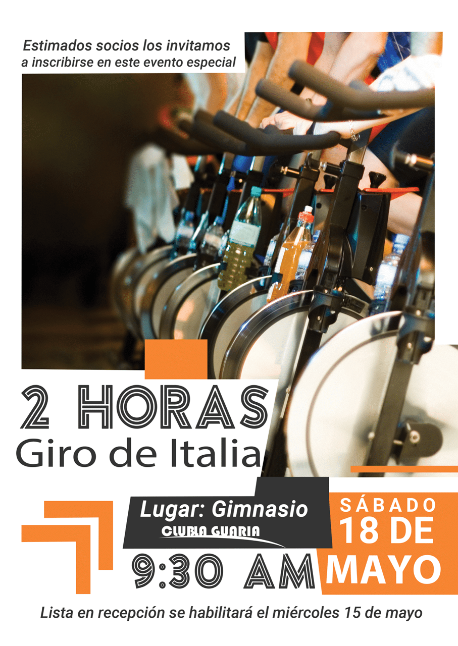 Spinning 2 horas Giro de Italia