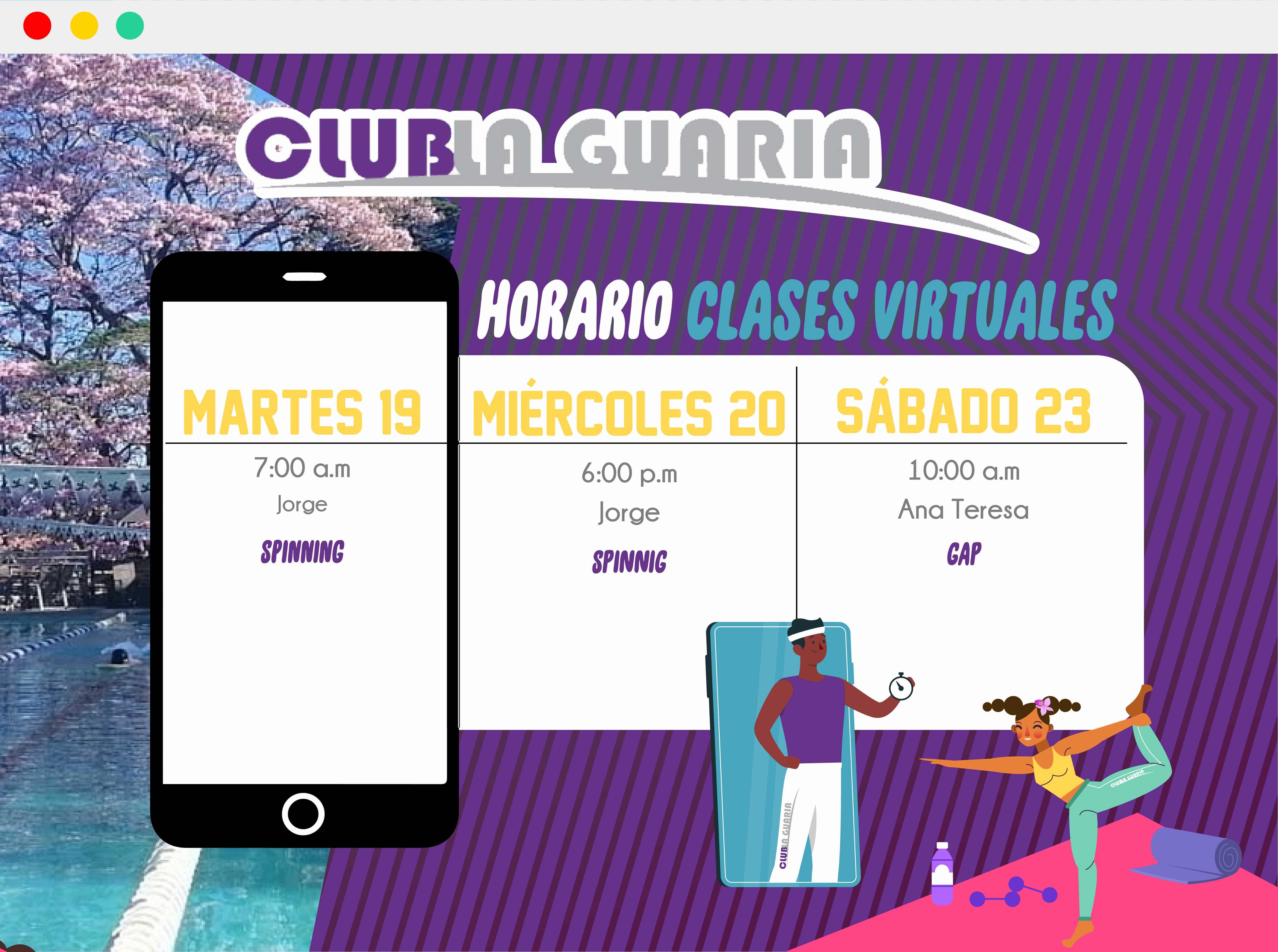 Clases virtuales del 19 al 23 de Mayo 2020