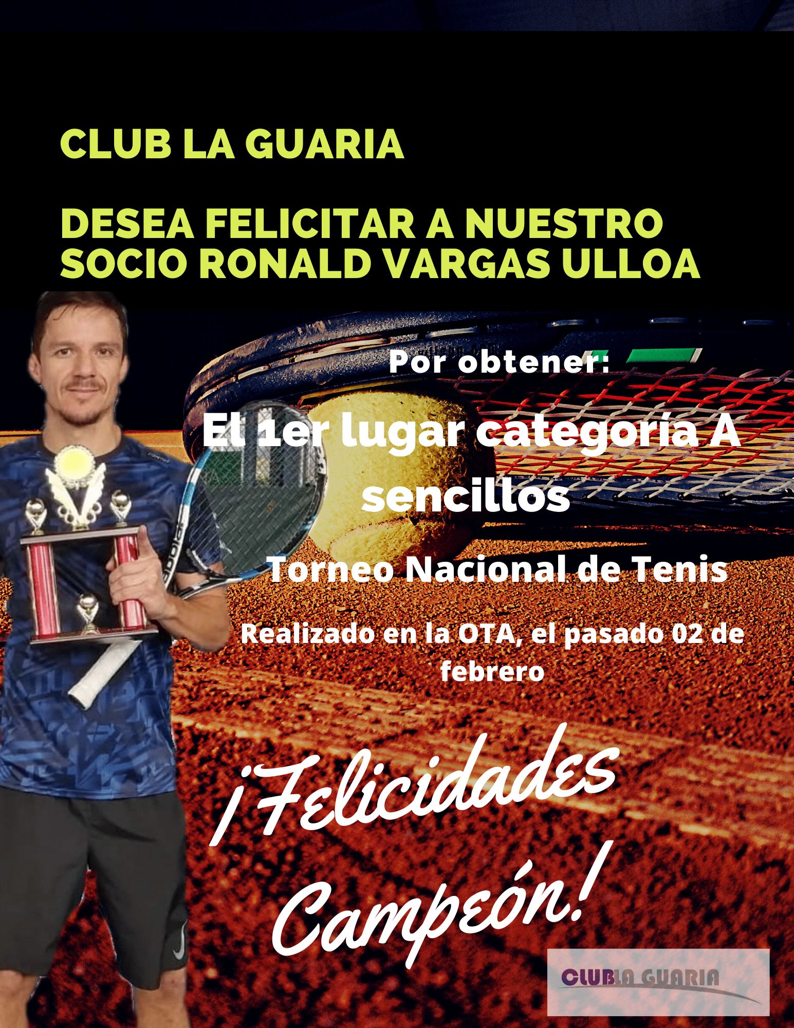 Club La Guaria desea Felicitar