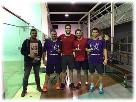 Felicitaciones a nuestro equipo en las Finales del Torneo de Squash en Tenis Club